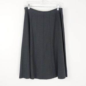 Eileen Fisher Raw Hem A-line Midi Skirt